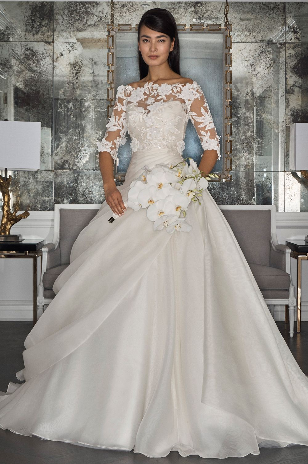 fbc7ef787272b Romona Keveza RK7495 wedding dress and blouse - Browns Bride