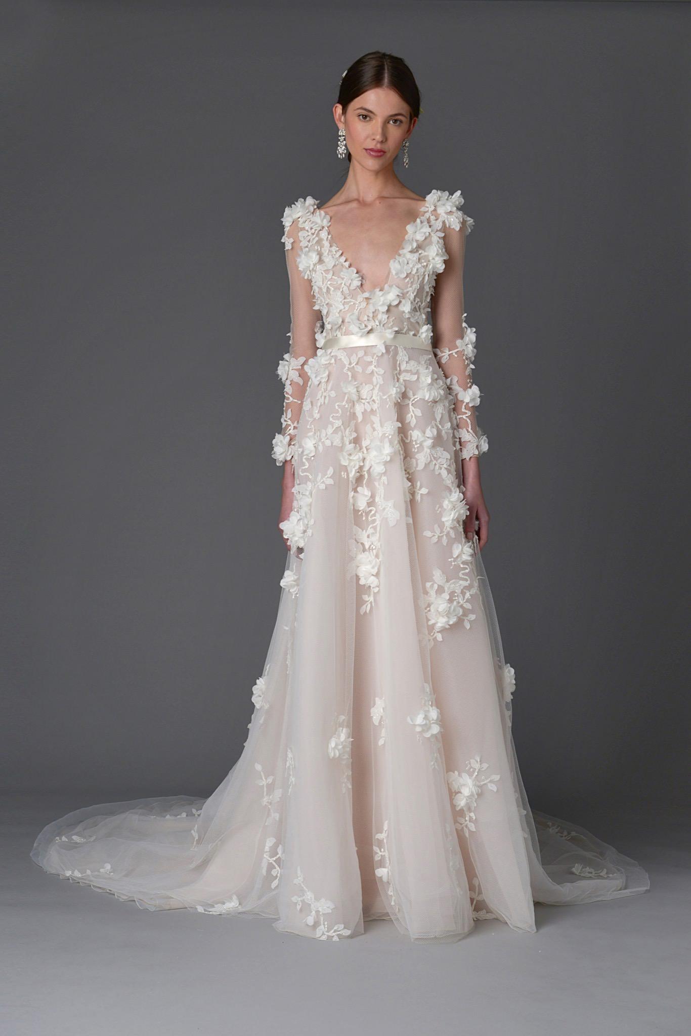 Marchesa Orchid Wedding Dress