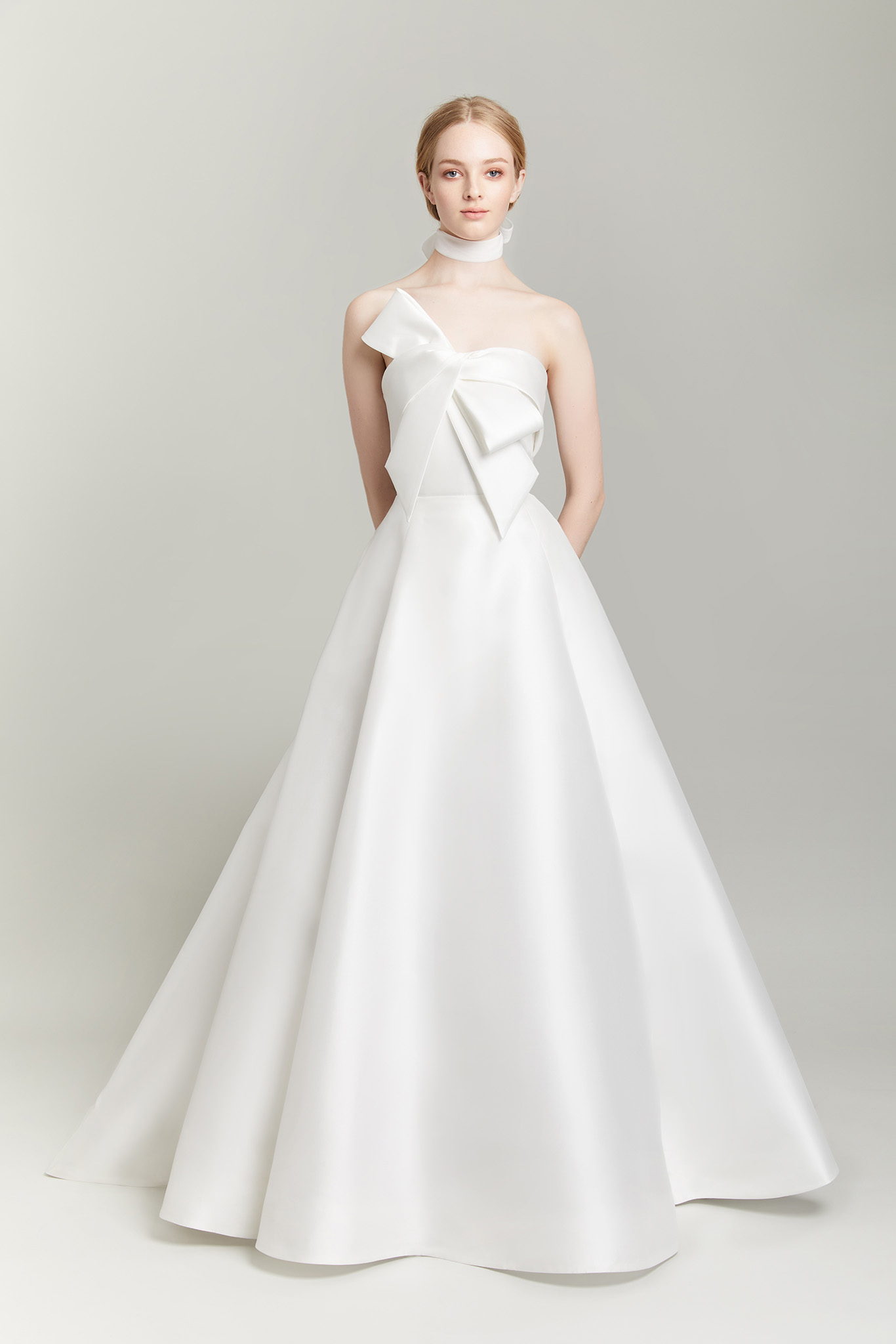 Lela Rose A-Line gown with bow bodice