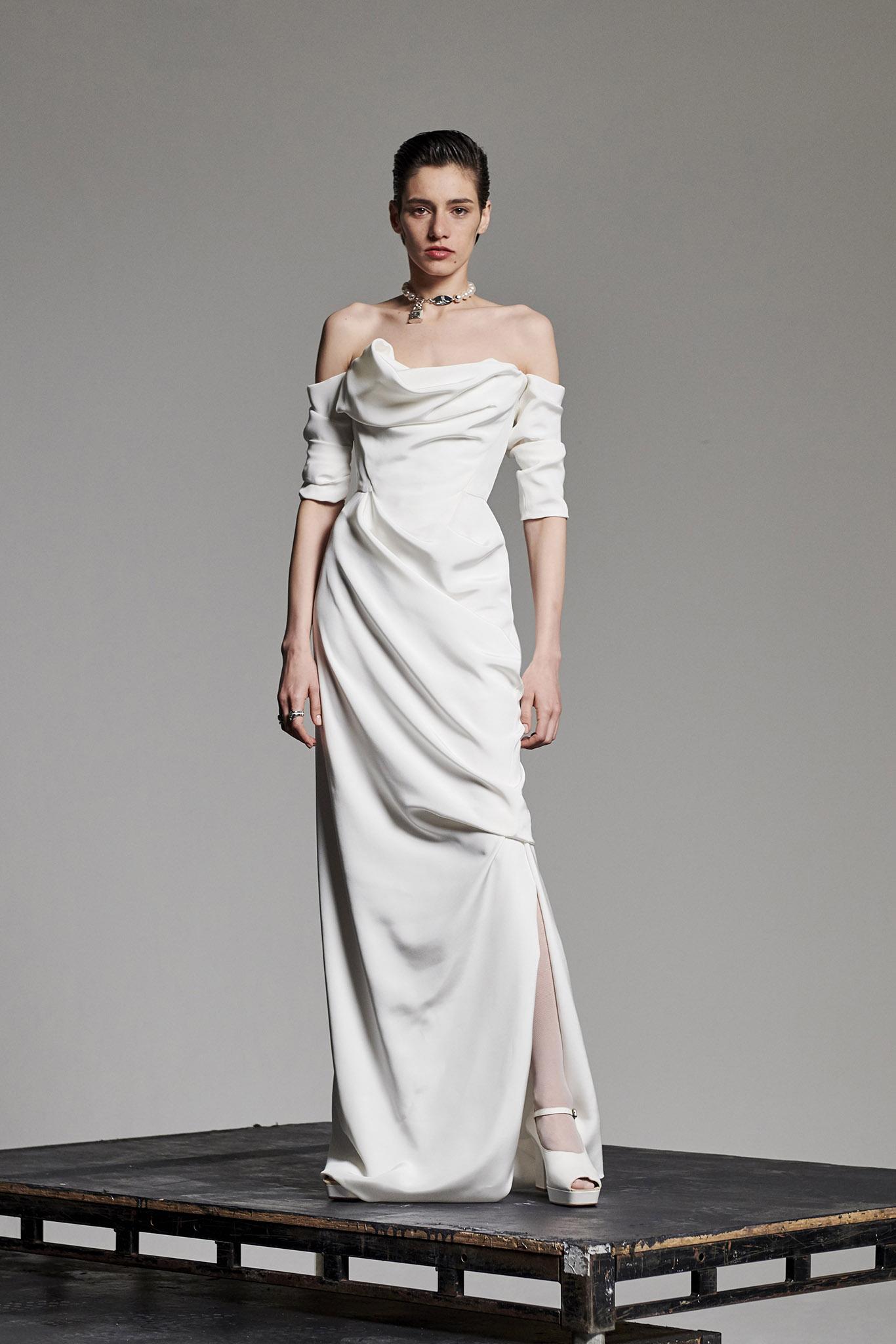 Vivienne Westwood Delicate Drape Wedding Dress Browns Bride